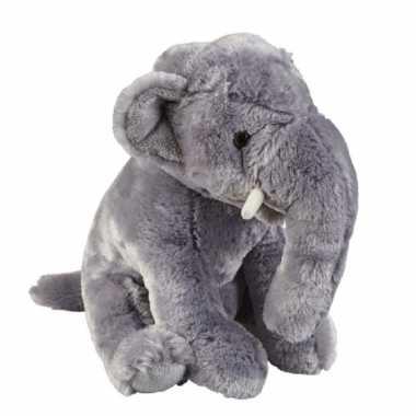 Pluche grijze olifant knuffel 30 cm speelgoed