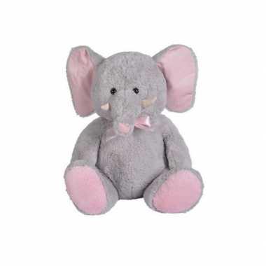 Pluche grijze olifant knuffel 55 cm speelgoed