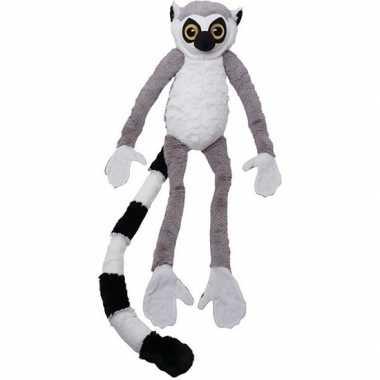 Pluche grijze ringstaart maki aap/apen knuffel 100 cm speelgoed