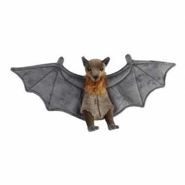 Pluche grijze vleermuis/vleermuizen knuffel 36 cm speelgoed