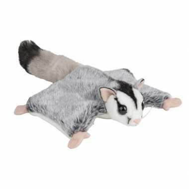 Pluche grijze vliegende eekhoorns knuffel 34 cm speelgoed