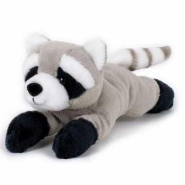 Pluche grijze wasbeer/wasberen knuffel 13 cm speelgoed
