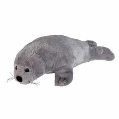 Pluche grijze zeehond knuffel 30 cm speelgoed