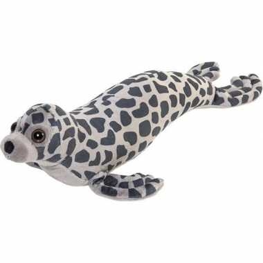 Pluche grijze zeehond knuffel 44 cm