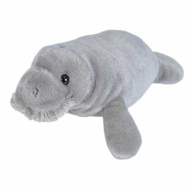 Pluche grijze zeekoe zeekoeien knuffel 25 cm speelgoed