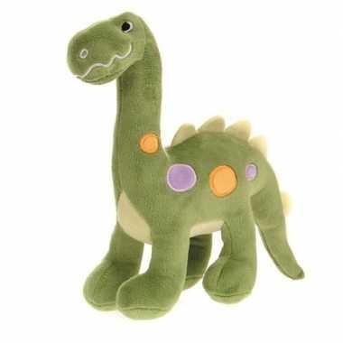 Pluche groene dinosaurus knuffel 22 cm speelgoed