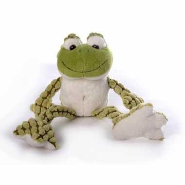 Pluche groene kikker knuffel 22 cm speelgoed