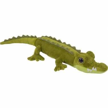 Pluche groene krokodil knuffel 60 cm speelgoed
