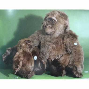 Pluche grote gorilla knuffel 80 cm