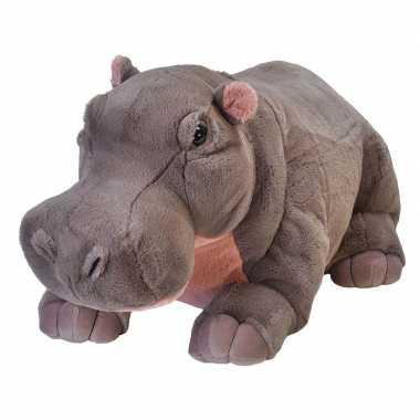 Pluche grote nijlpaard knuffel 76 cm