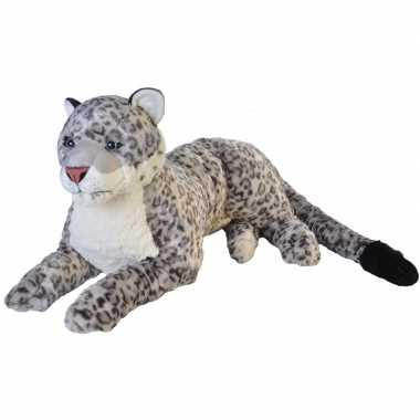 Pluche grote sneeuw luipaard knuffel 76 cm
