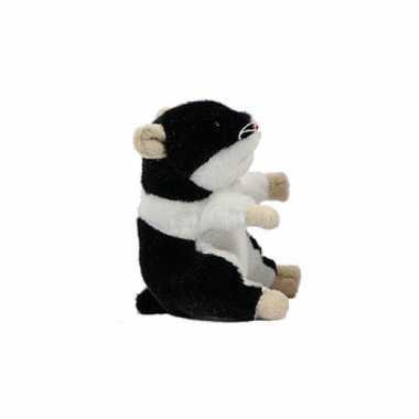 Pluche hamsters knuffel 13 cm zwart