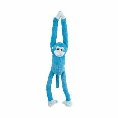 Pluche hangend aapje knuffels blauw 55 cm