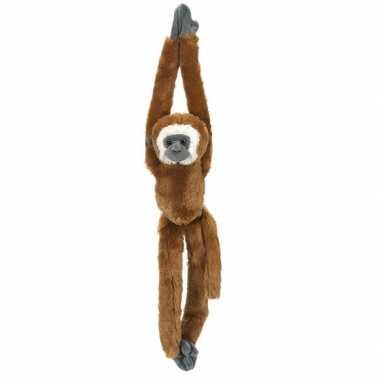 Pluche hangende bruine gibbon aap/apen knuffel 51 cm
