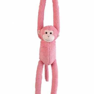Pluche hangende knuffels aapjes 55 cm