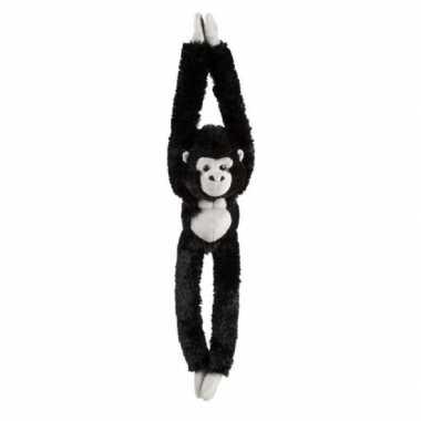 Pluche hangende zwarte gorilla aap/apen knuffel 65 cm
