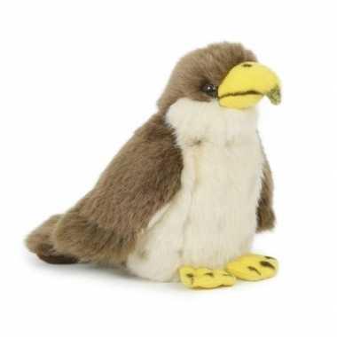 Pluche havik vogel knuffel 13 cm speelgoed