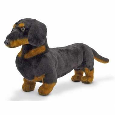 Pluche hond knuffel teckel 40 cm