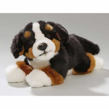 Pluche honden knuffel liggende berner senner 20 cm
