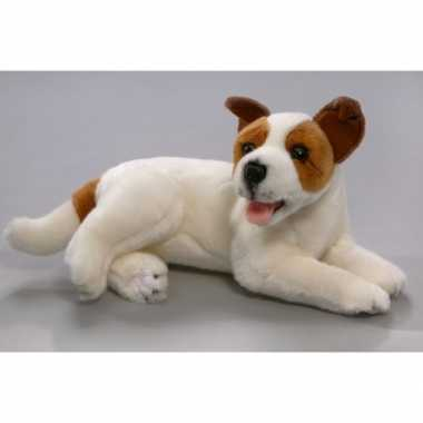 Pluche jack russell hond knuffel 30 cm