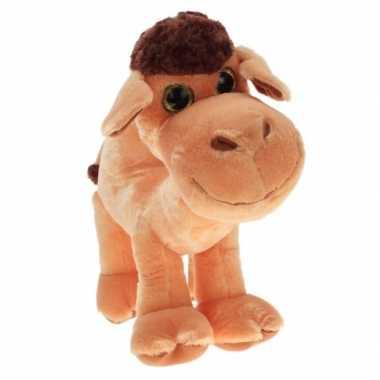 Pluche kameel knuffel met glitterogen 70 cm