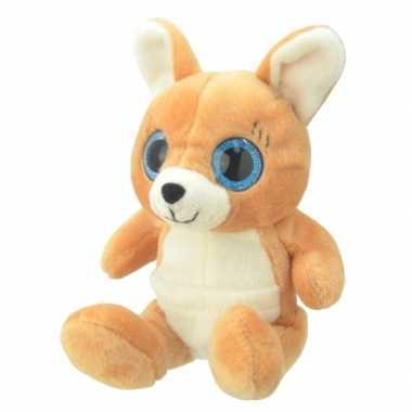 Pluche kangoeroe knuffel 19 cm 10082412