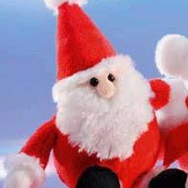 Pluche kerstman knuffel 19 cm