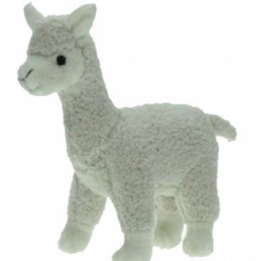Pluche knuffel alpaca wit 23 cm