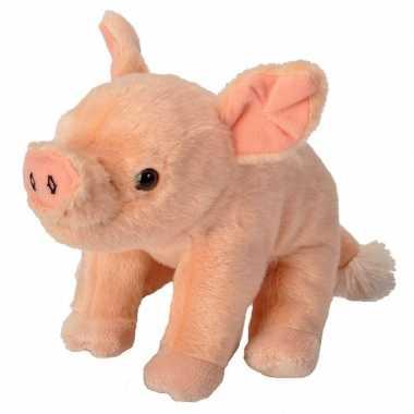 Pluche knuffel biggetje varken roze 20 cm