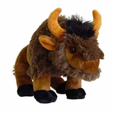 Pluche knuffel bizon 25 cm