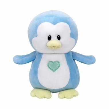 Pluche knuffel blauwe pinguin ty beanie/baby twinkles 17 cm