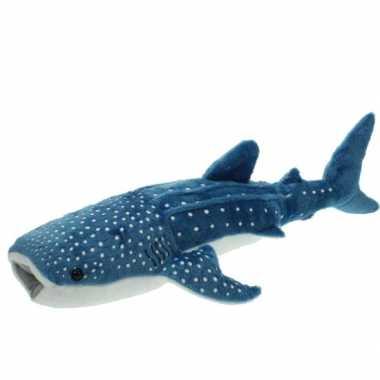 Pluche knuffel blauwe walvis haai 54 cm