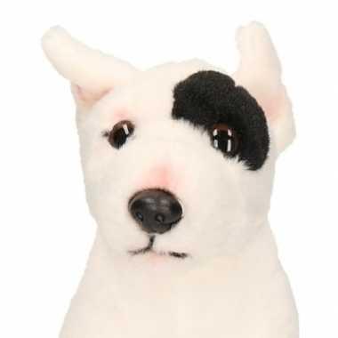 Pluche knuffel bull terrier zittend