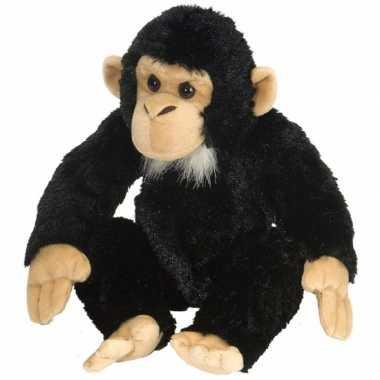 Pluche knuffel chimpansee 30 cm