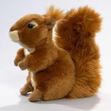 Pluche knuffel eekhoorn zittend 19cm