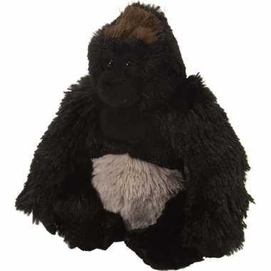 Pluche knuffel gorilla zwart 20 cm