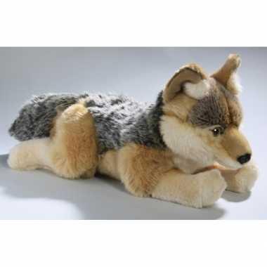 Pluche knuffel goudjakhals wolf 35 cm