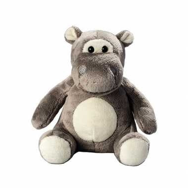 Pluche knuffel nijlpaard 12.5 cm