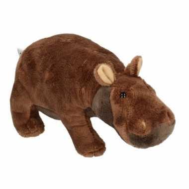 Pluche knuffel nijlpaard 20 cm