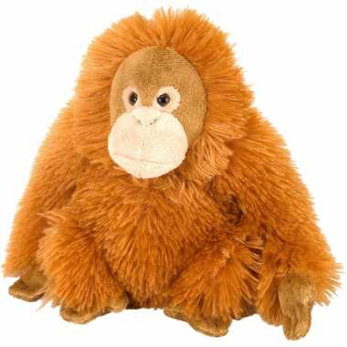 Pluche knuffel orang oetan oranje 20 cm
