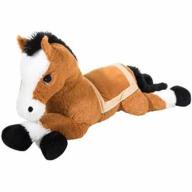 Pluche knuffel paard bruin van 100 cm