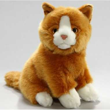 Pluche knuffel rode kater 23 cm