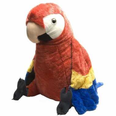Pluche knuffel rode papegaai 76 cm