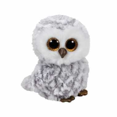 Pluche knuffel uil wit 15 cm