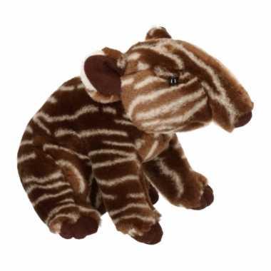 Pluche knuffel vlakland tapir 23 cm