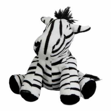 Pluche knuffel zebra 19 cm