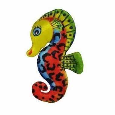 Pluche knuffel zeepaardje geel 27 cm