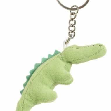 Pluche krokodil knuffel sleutelhanger 6 cm