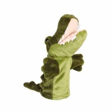 Pluche krokodillen handpop knuffel 24 cm