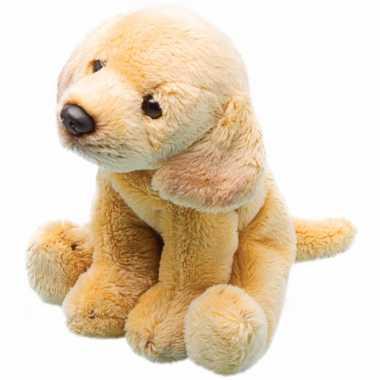 Pluche labrador geel knuffel hond13 cm
